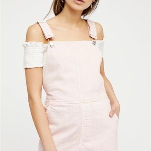 free people torn up jumper (overall dress)